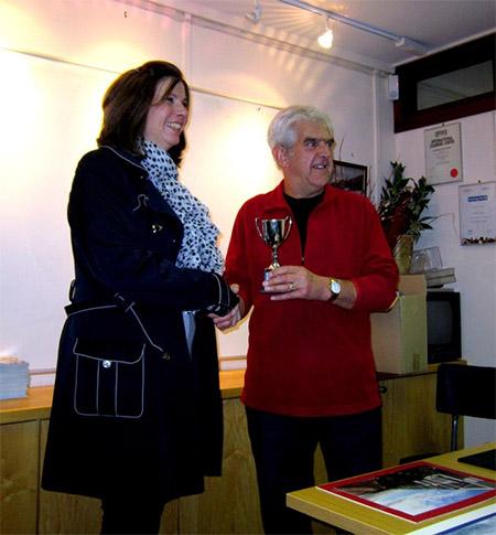 Peter Dixon receives an award